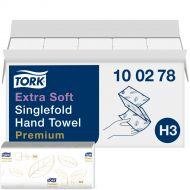 Tork H3 Premium handdoek, z-vouw, 2 laags wit 23x23cm doos à 3.000 stuks (100278)