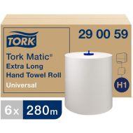 Tork Matic extra lange handdoekrol, H1, 1-laags, wit, 6 x 280 m (290059)