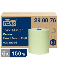 Tork Advanced groen handdoekrol 2-lgs  150 mtr x 21 cm doos à 6 rol (290076)