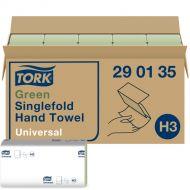 Tork handdoekjes groen, Z-vouw 25 x 23 cm, 1-laags, doos à 4.000 stuks (290135)