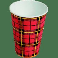 Drinkbeker karton 180ml 7.5oz Schotse ruit / Scotty 100st (158710)