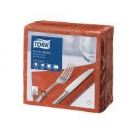 Tork 478763 tissue servet 39x39cm, 2 lgs, 1/4 vouw, terracotta , 12x150 (478763)