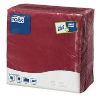 Tork 478875 tissue servet 39x39cm, 2 lgs, 1/4 vouw, burgundy, 12x150 (478875)