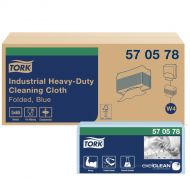 Tork Industrial Heavy-Duty Gevouwen Reinigingsdoek Blauw W4, 5 x 65 doeken (570578)(570579)
