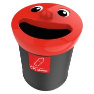 Smiley Face recycling afvalbak 52 liter, plastics (VB719457)