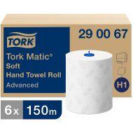 Tork Matic 290067 Soft Hand Towel Roll 2laags wit 150meter x 21cm Advanced a 6rollen (290067)